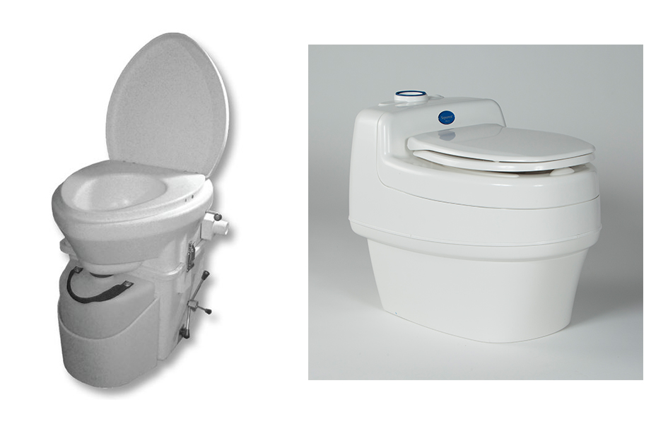 Composting Toilets - Side by side