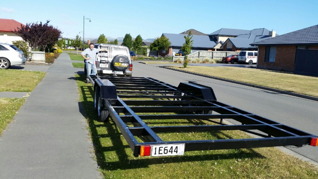Trailer complete and back in Christchurch