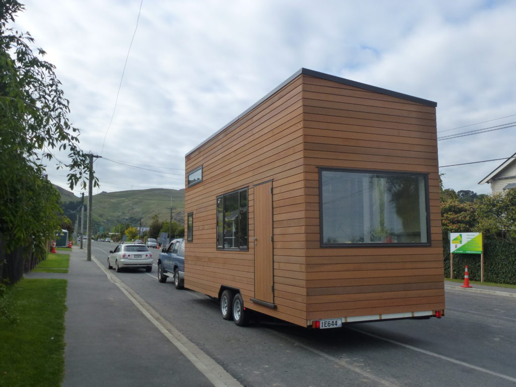 Tiny House on the move to its current location